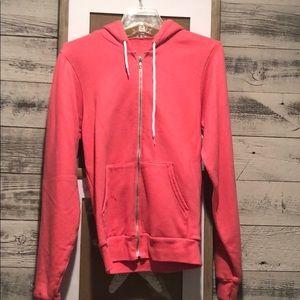 Coral Pink Zip Up Hoodie